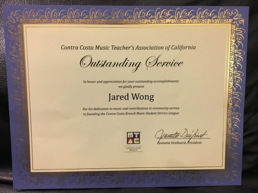 Jared CCMTAC Award