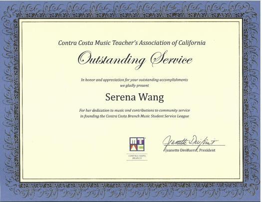 Serena CCMTAC Award